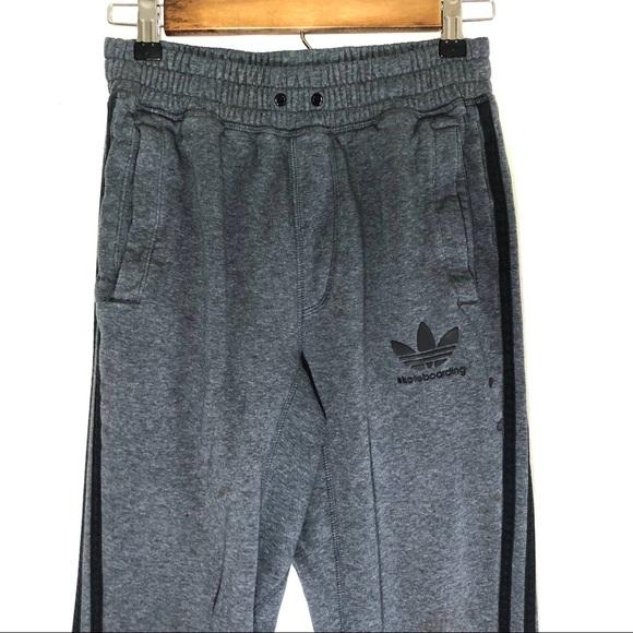 7018b5b6961d {Adidas} Trefoil Grey Jogger Sweatpants